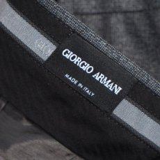 画像9: ジョルジオアルマーニ黒ラベル ウール製「WALL STREETシリーズ」 シングルングルブレストスーツ(50)A/W グレー (9)