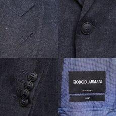 画像4: ジョルジオアルマーニ黒ラベル ウール 「SOHOモデル」チェック柄スーツ(56)A/W (4)