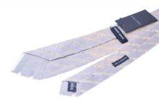 画像2: GIORGIO ARMANI 黒ラベル ネクタイ ウールシルク製 ストライプ (2)