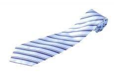 画像1: ジョルジオアルマーニ黒ラベル ネクタイ  青 ダブルストライプ (1)