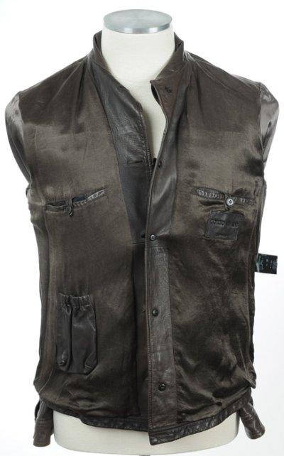 画像1: ジョルジオアルマーニ「黒ラベル」レザージャケット(54)茶色革ジャン
