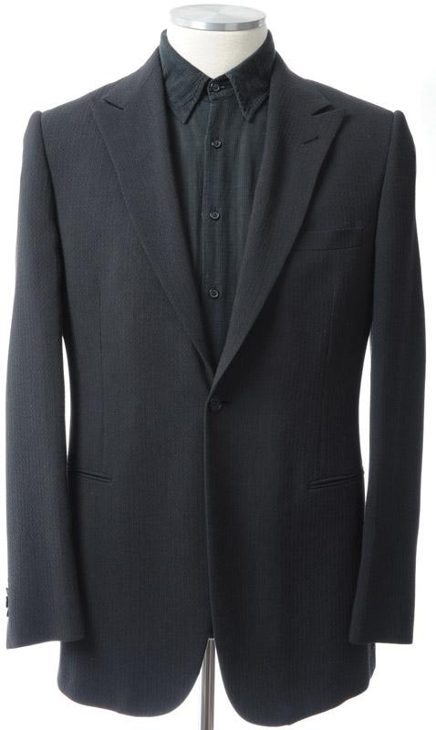 画像1: ジョルジオアルマーニ黒ラベルのブラックジャケット(52)S/S 《《SALE》》 【国内発送】 (1)