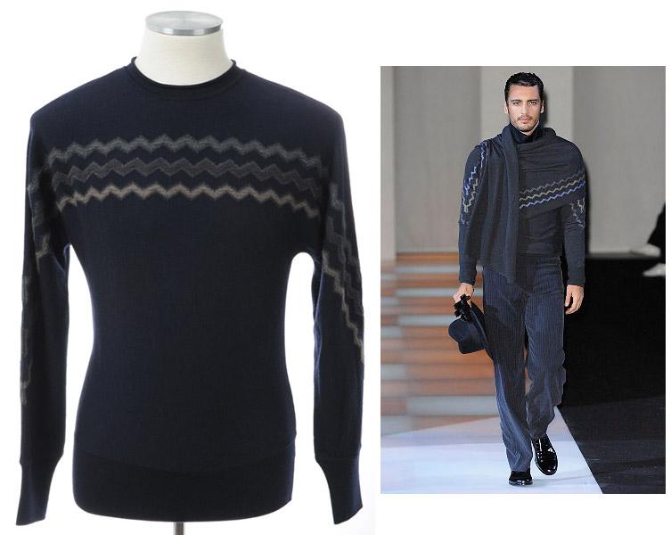 画像1: ジョルジオアルマーニ黒ラベル「カシミア」セーター(サイズ50)定価$2,125 A/W (1)