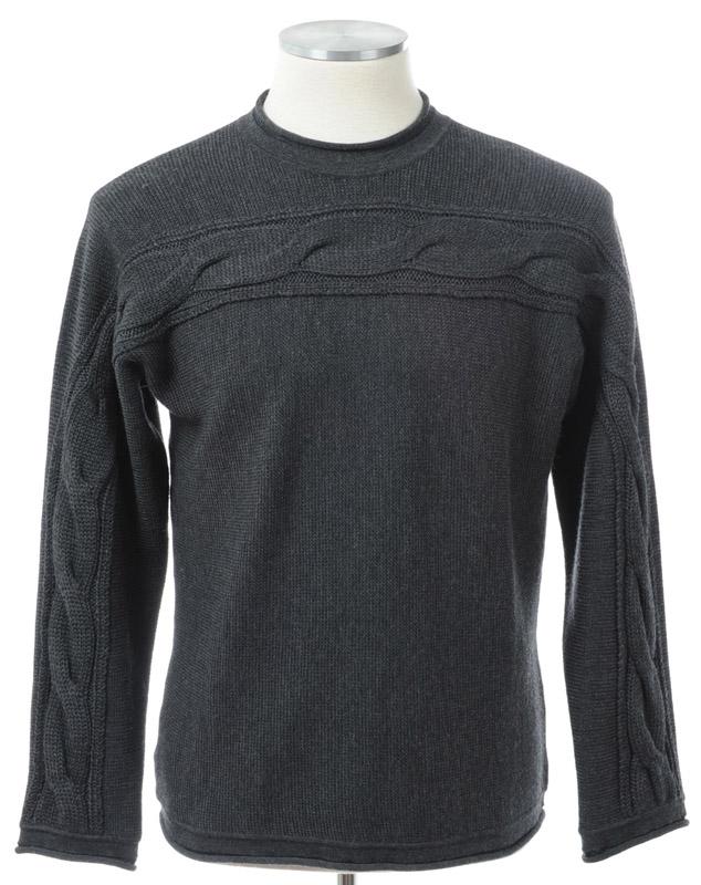 画像1: ジョルジオアルマーニ黒ラベルのグレーセーター(54)定価$1,995 A/W (1)
