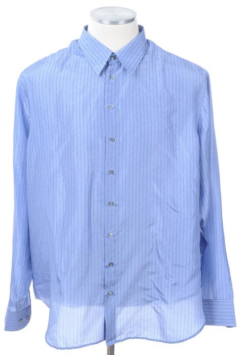 画像1: ジョルジオアルマーニ黒ラベルのシルクシャツ(44) (1)