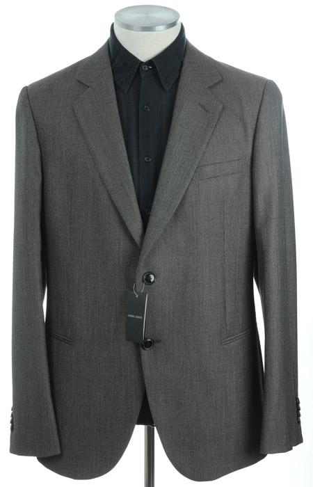 画像1: ジョルジオアルマーニ「茶系」スーツ(56)A/W 【国内発送】 《《SALE》》  (1)