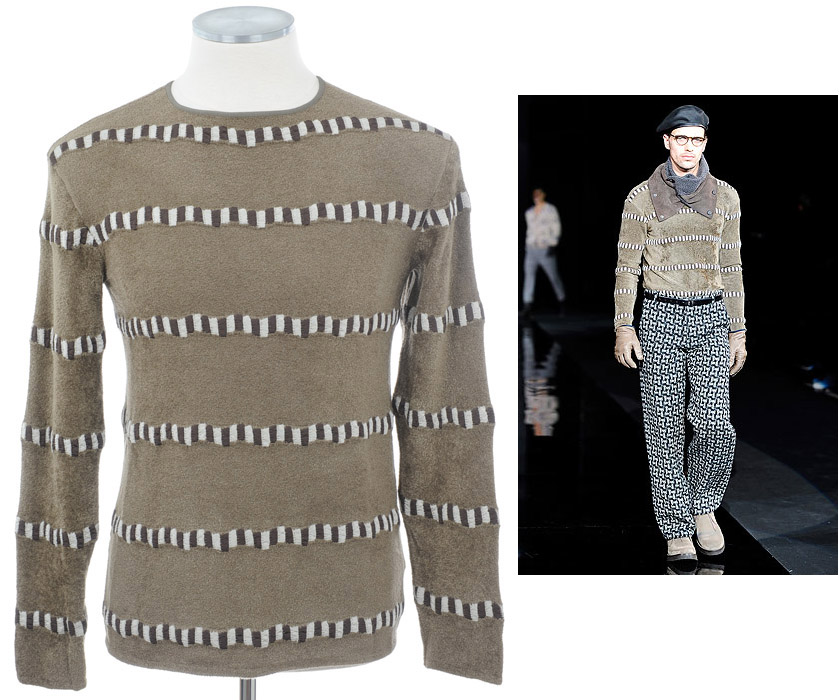 画像1: ジョルジオアルマーニ黒ラベルのセーター(52/56) A/W (1)