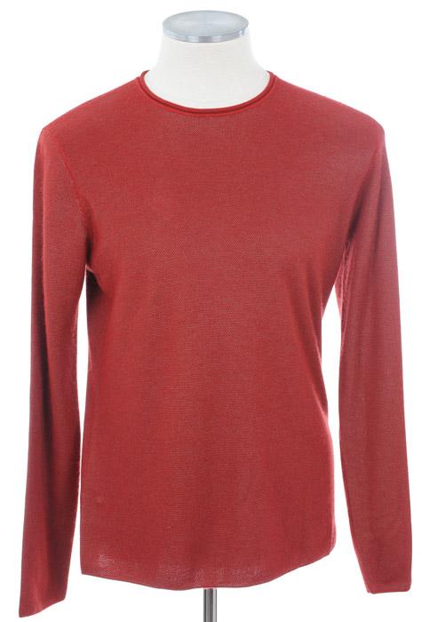 画像1: ジョルジオアルマーニ黒ラベルの赤いセーター(48/52/54/56/58) (1)