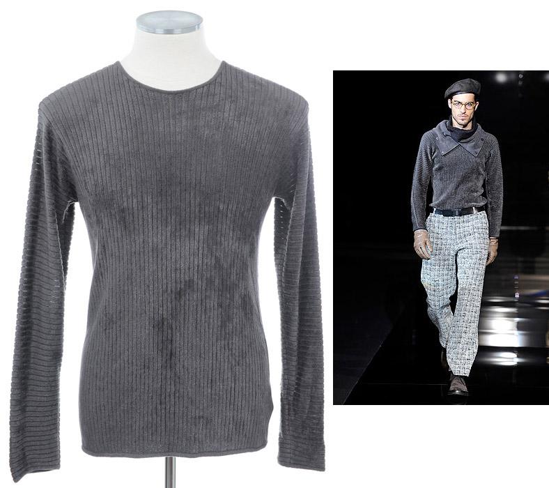 画像1: ジョルジオアルマーニ黒ラベルのセーター(52) オリーブブラウン系 A/W (1)