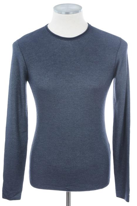 画像1: ジョルジオアルマーニ黒ラベルの青いセーター(48/58) (1)