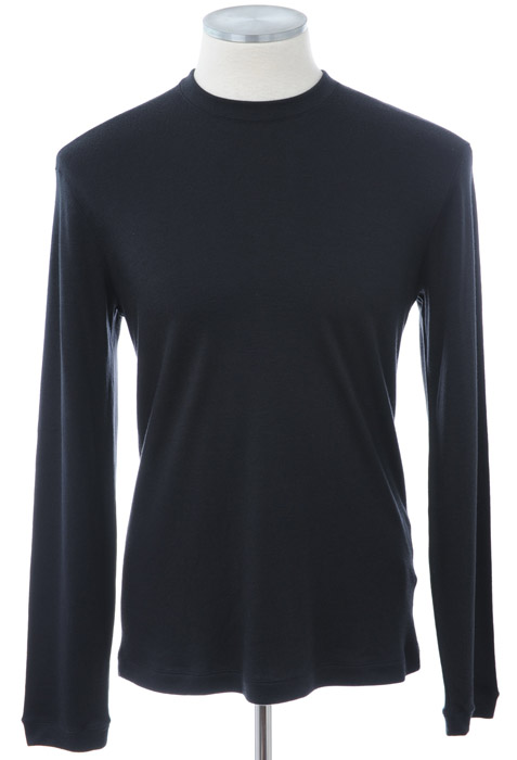 画像1: ジョルジオアルマーニ黒ラベル「カシミアロングTシャツ」(54)[$2,195] (1)