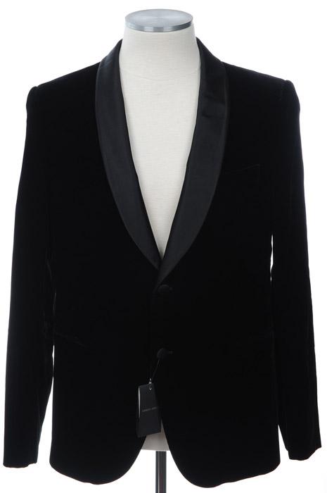 画像1: ジョルジオアルマーニ黒ラベルのベルベットジャケット(54)A/W 《《SALE》》 (1)