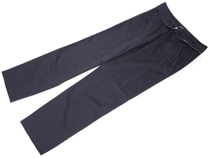 画像1: ジョルジオアルマーニ黒ラベル「ドローストリング付き」コットンパンツ(54)S/S (1)