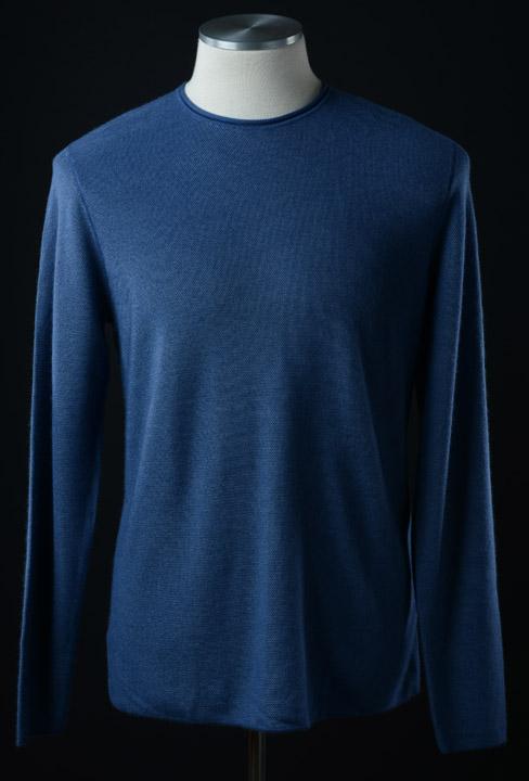 画像1: ジョルジオアルマーニ黒ラベルの青いセーター(48/56/58) A/W (1)