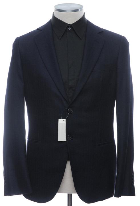 画像1: ジョルジオアルマーニ黒ラベル「カシミア100%」ネイビージャケット(50)A/W (1)
