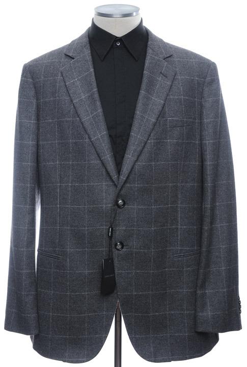 画像1: ジョルジオアルマーニ黒ラベル「カシミア100%」超特大サイズジャケット(62)A/W (1)