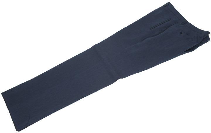 画像1: ジョルジオアルマーニ黒ラベル「定番のネイビー」リネンパンツ(58)S/S 特別大きいサイズ (1)