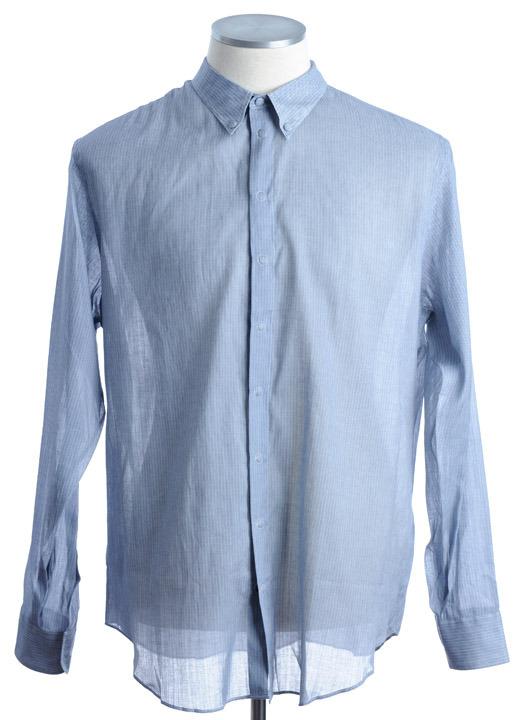 画像1: ジョルジオアルマーニ「黒ラベル」RAMIExコットンシャツ(41) (1)