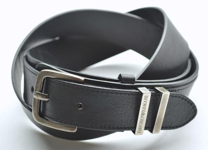画像1: エンポリオアルマーニの黒いベルト(48) (1)