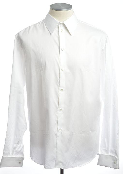 画像1: ジョルジオアルマーニ「黒ラベル」極上タキシードシャツ(45)【国内発送】 (1)