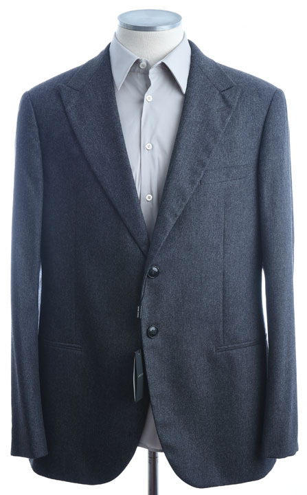 画像1: ジョルジオアルマーニ黒ラベル「カシミア混」スーツ(58)A/W (1)