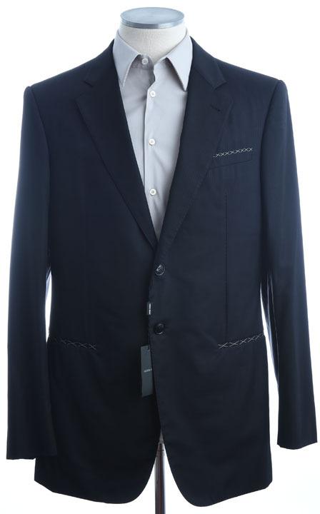 画像1: ジョルジオアルマーニ黒ラベル「SUPER 150's」黒スーツ(56L)A/W (1)