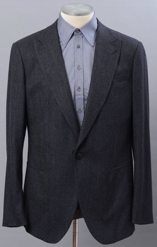 画像1: ジョルジオアルマーニ黒ラベル「CAMBRIDGE」ツイード素材スーツ(56/60)A/W (1)