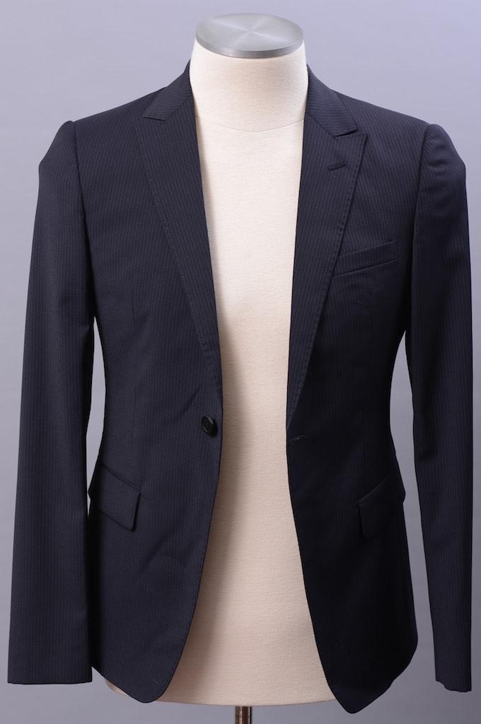 画像1: エンポリオアルマーニ「デヴィッドベッカムモデル」紺スーツ(44)S/S (1)