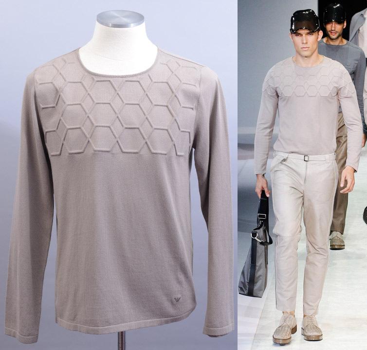 画像1: エンポリオアルマーニのカーキ色セーター(52/54) 【国内発送】 (1)