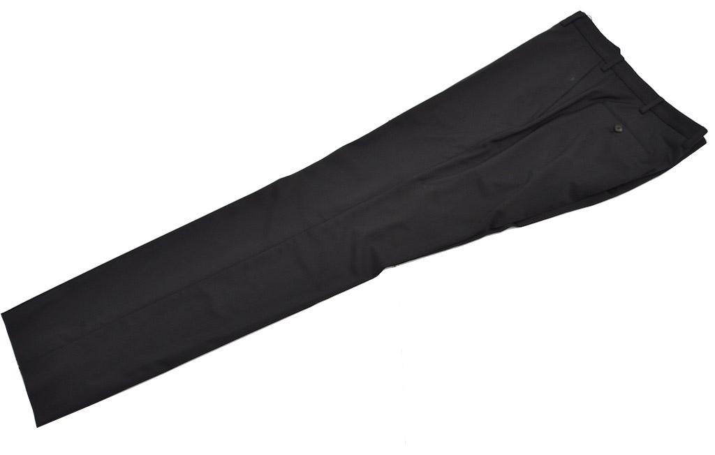 画像1: ジョルジオアルマーニ黒ラベル「SUPER 150's」黒いパンツ(54)A/W (1)