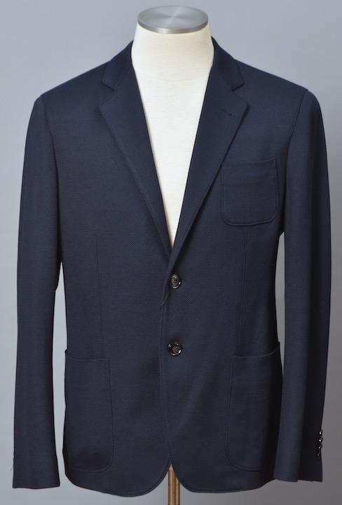 画像1: ジョルジオアルマーニ黒ラベル 紺色ジャケット (54) Uptonシリーズ シルクコットン混紡 S/S【国内発送】】 (1)