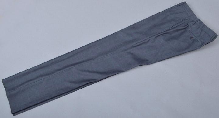画像1: ジョルジオアルマーニ黒ラベル,グレー無地パンツ(50/52)S/S ウール (1)