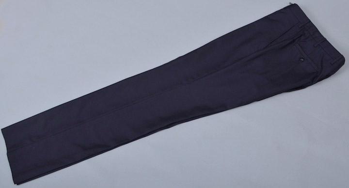画像1: ジョルジオアルマーニ黒ラベル紺無地パンツ(50)S/S ウールxシルク (1)
