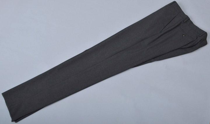 画像1: ジョルジオアルマーニ黒ラベル,濃い目グレー無地パンツ(50/56)S/S ポリエステル/レーヨン (1)