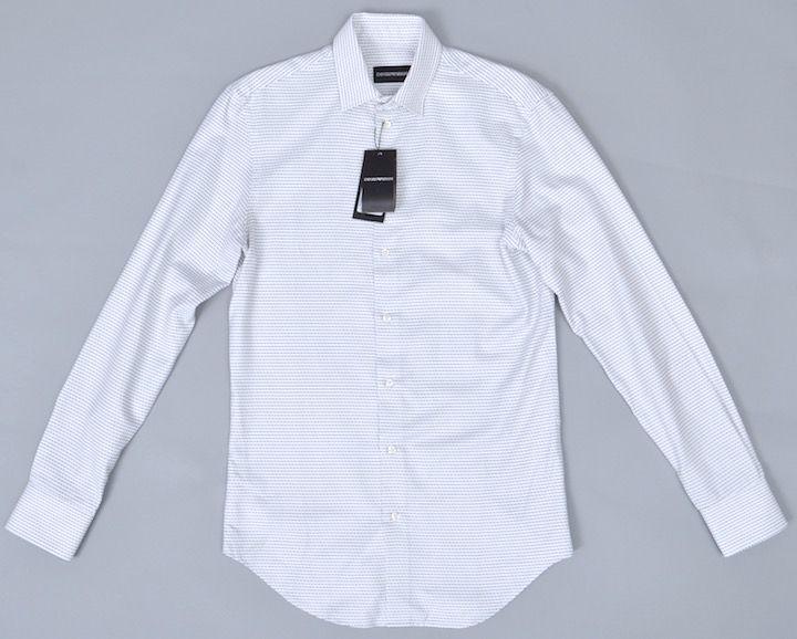 画像1: エンポリオアルマーニ コットン製  白 長袖シャツ(37) (1)