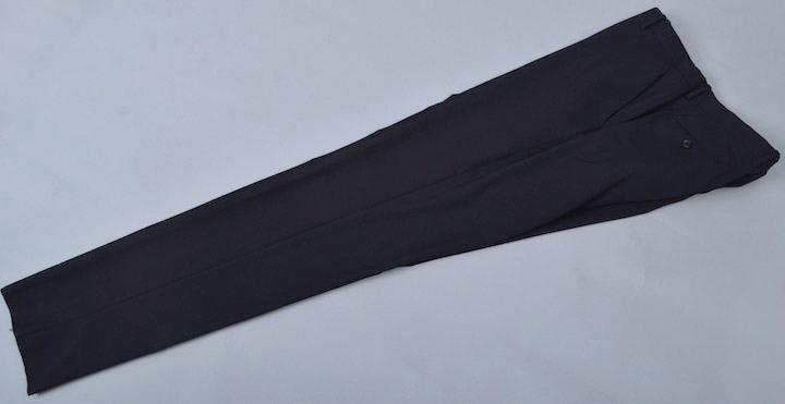 画像1: ジョルジオアルマーニ黒ラベル濃紺無地パンツ(58)S/S ポリエステル/レーヨン (1)