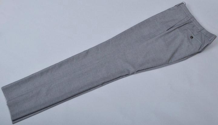 画像1: ジョルジオアルマーニ黒ラベル,グレー無地パンツ(52/54)S/S ウールxシルク (1)