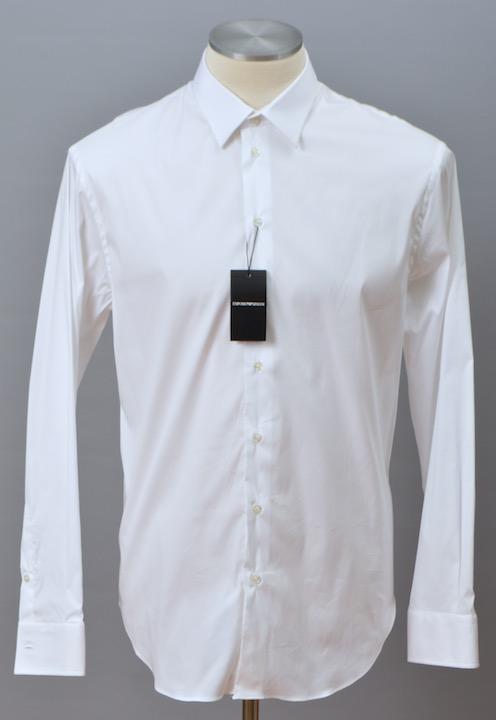 画像1: エンポリオアルマーニ コットン製  白 長袖シャツ(44) (1)