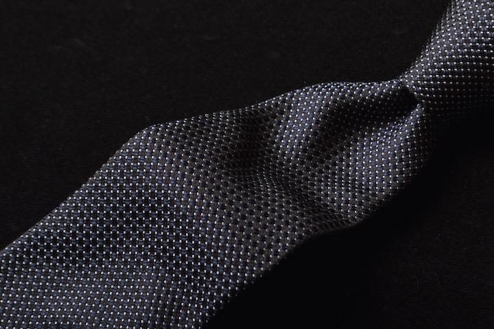 画像1: エンポリオアルマーニ ネクタイ  濃紺 ピンドット (1)