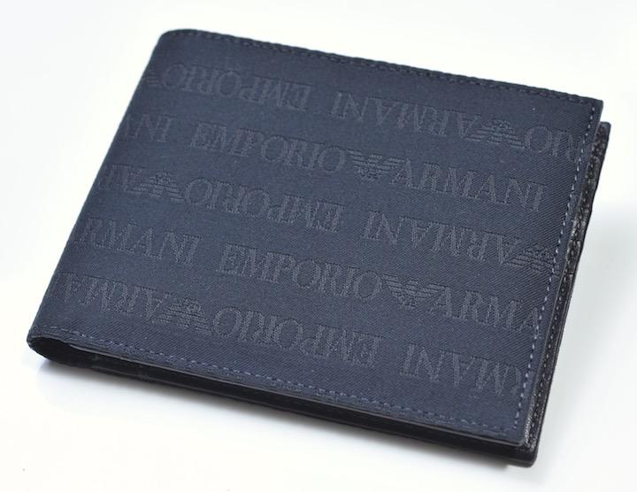 画像1: エンポリオアルマーニ「モノグラム」2つ折り財布 (1)