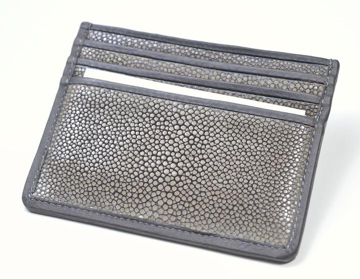画像1: ジョルジオアルマーニ「極上ガルーシャ(エイ革)」カードホルダー 財布 (1)