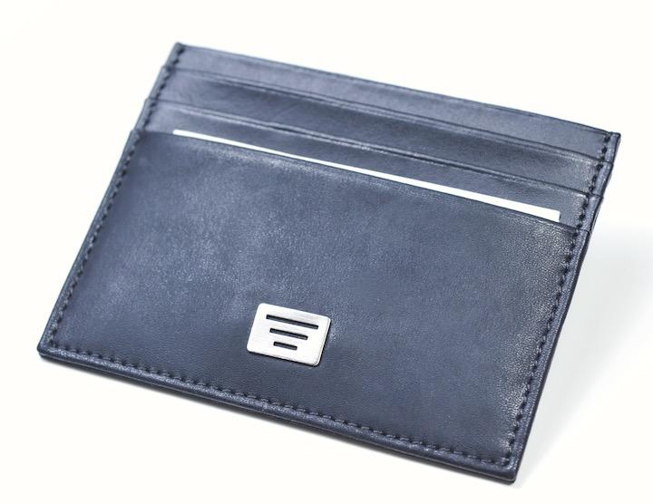 画像1: エンポリオアルマーニのカード入れ・名刺入れ 財布(ネイビー/紺) (1)