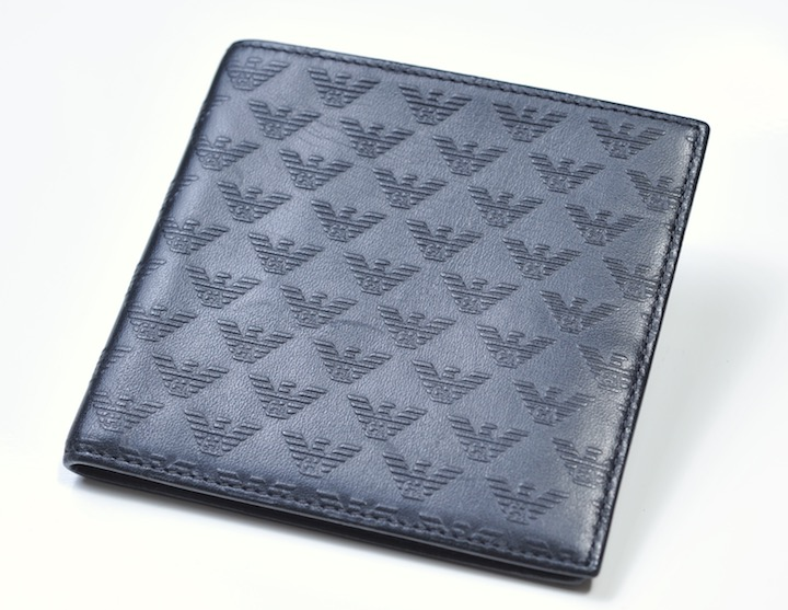 画像1: エンポリオアルマーニの2つ折りウォレット 財布 (1)