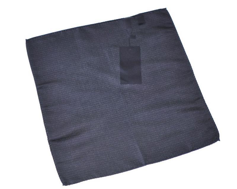 画像1: ジョルジオアルマーニ黒ラベル「ブラックソリッド」ポケットチーフ (1)