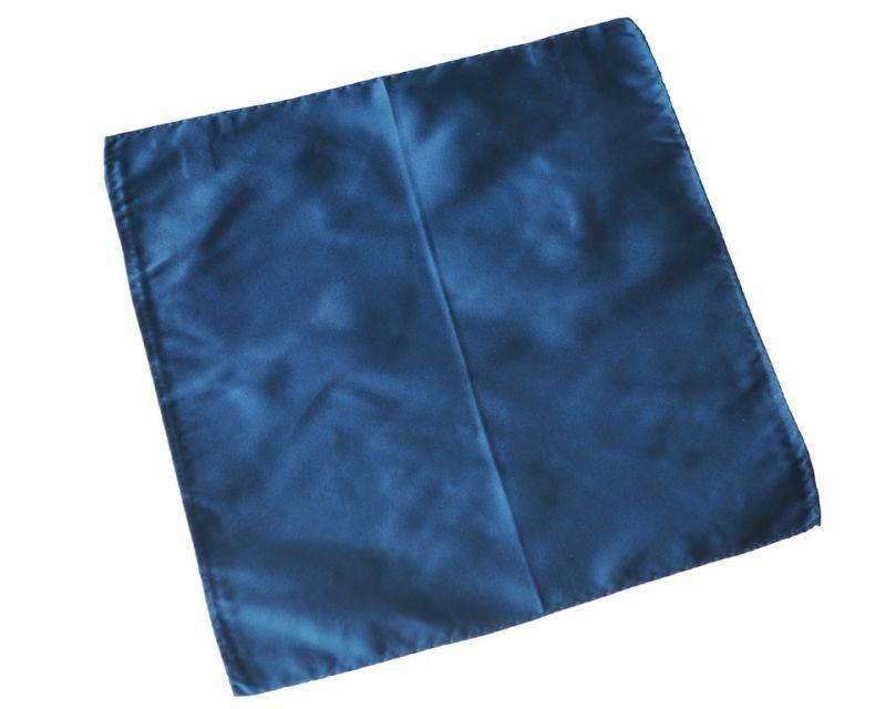 画像1: ジョルジオアルマーニ黒ラベル「サテン地ブルーグリーン」ポケットチーフ (1)
