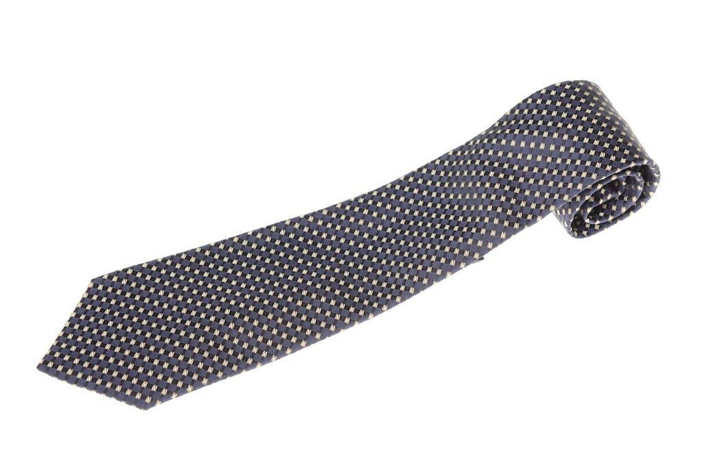 画像1: ジョルジオアルマーニ黒ラベル ネクタイ    紺色系 (1)