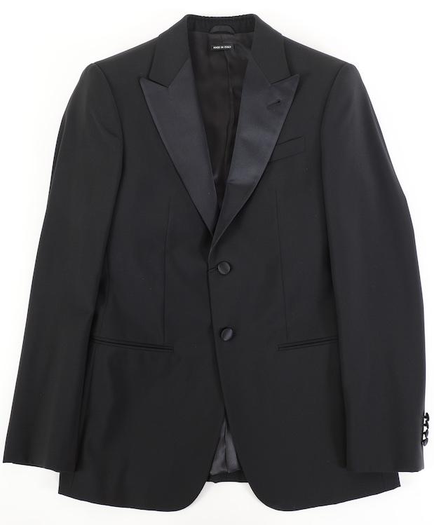 画像1: ジョルジオアルマーニ黒ラベル タキシードスーツ(46)冠婚葬祭 【国内発送】/結婚式 小さいサイズ 《《SALE》》  (1)