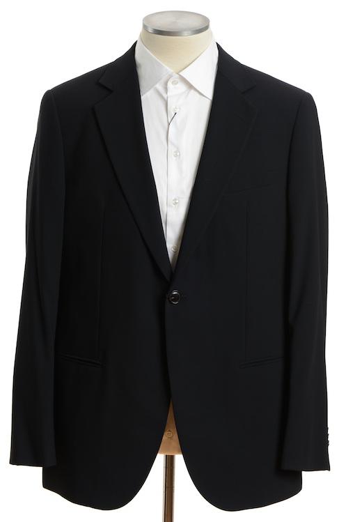 画像1: ジョルジオアルマーニ黒ラベル「ウール100%」定番ネイビースーツ(58) 濃紺無地 A/W (1)