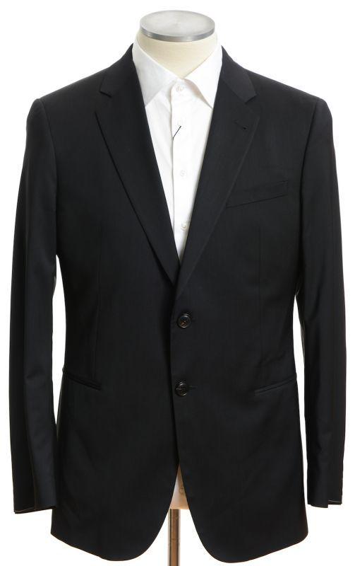 画像1: ジョルジオアルマーニ黒ラベル「TAYLORモデル」ブラックスーツ(56) 黒色無地 冠婚葬祭/結婚式 (1)