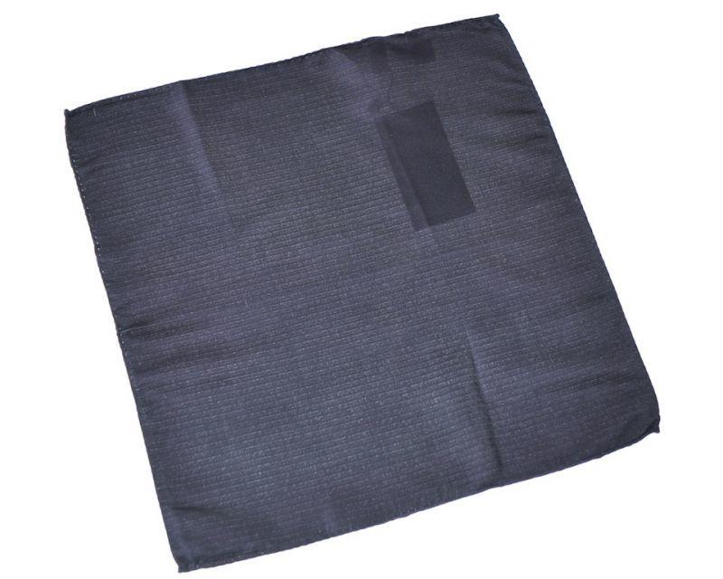 画像1: ジョルジオアルマーニ黒ラベル「黒ソリッド」ポケットチーフ (1)
